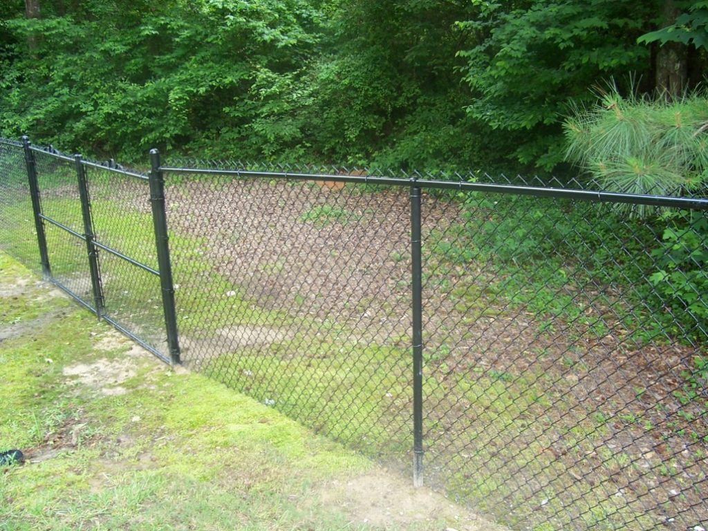 How to install a chain link fence on uneven ground