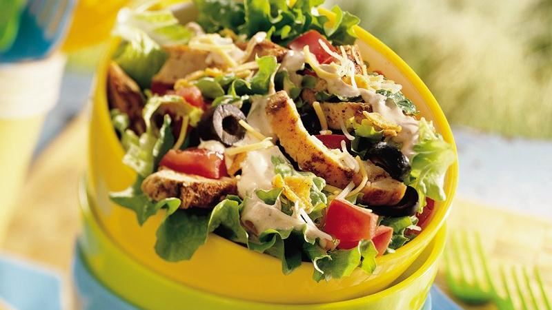 Keto Chicken Taco Salad