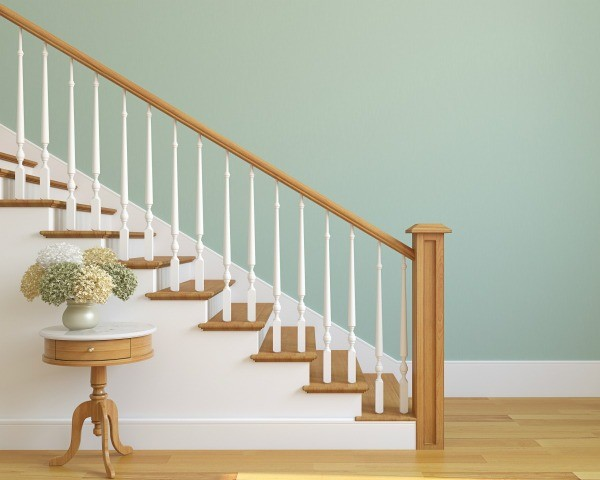 Clean Wood Banister