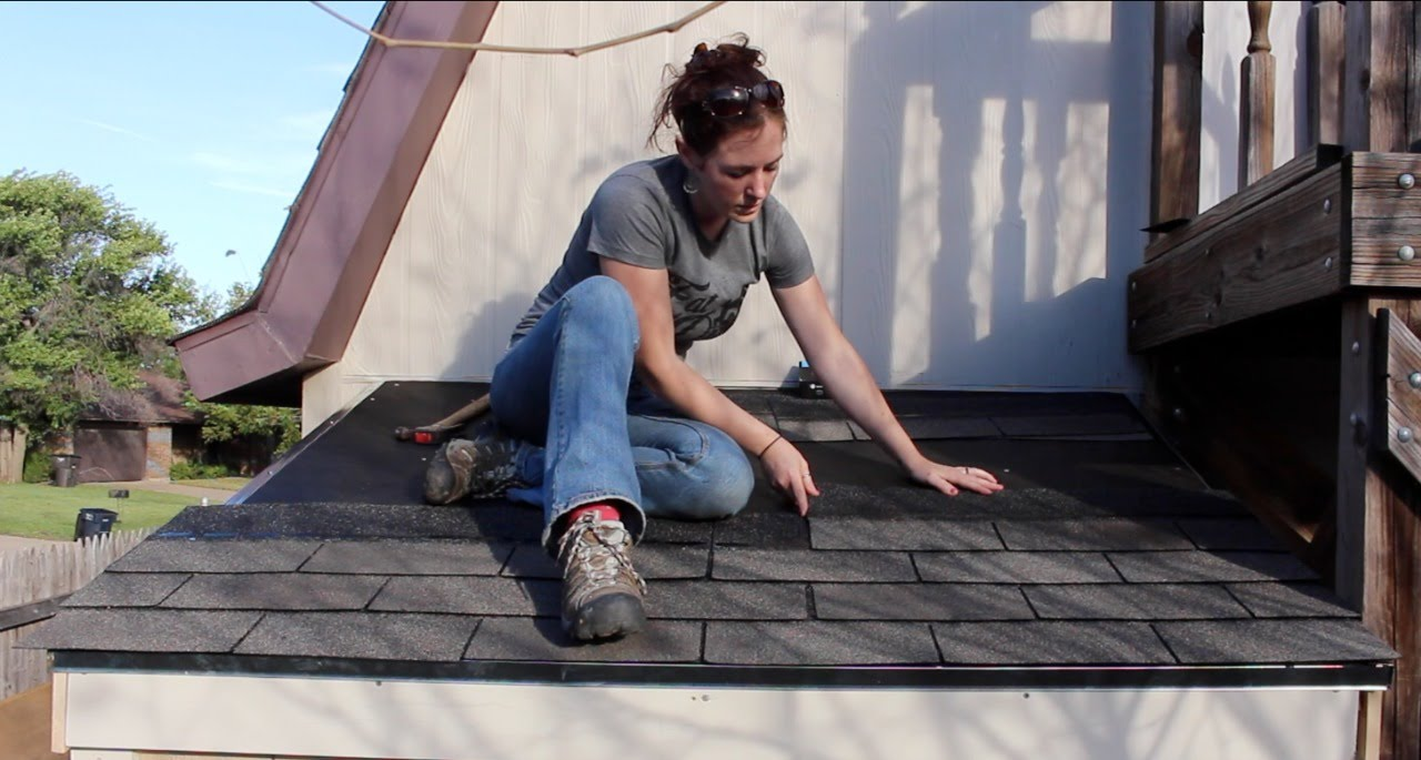 How to nail shingles on shed roof nail ftempo for How to shingle a shed